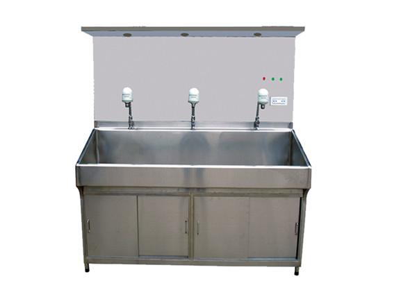 不锈钢豪华带光源手术洗手池